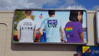 Billboard showing OHF clothing items